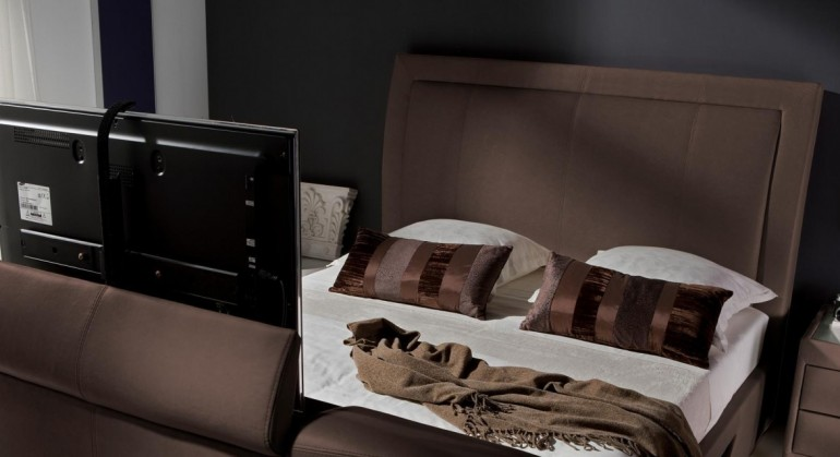 The Stanton TV Bed in Dark Brown