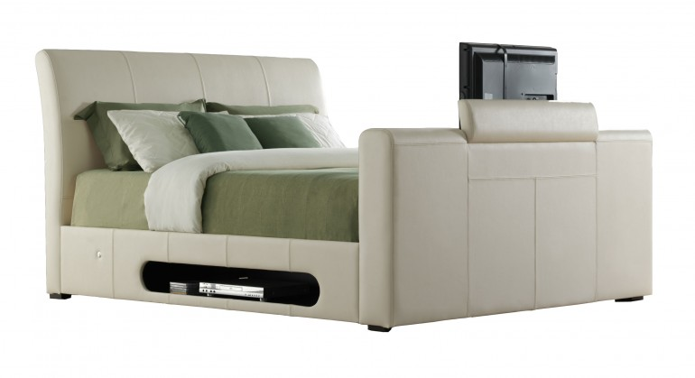 The Mandalay TV Bed in Ivory - more colours are available