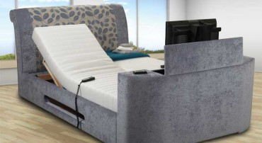 Sweet Dreams Peacock Adjustable TV Bed different fabric options are available