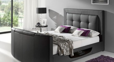 The Bowburn Leather TV Bed in Black