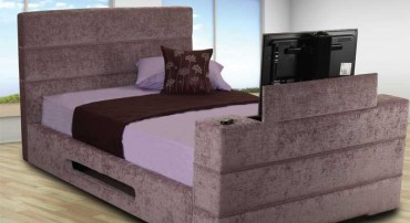 Mazarine TV Bed with Pablo Lavender Fabric option