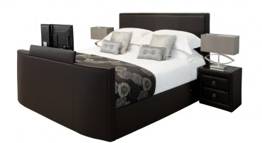 New York TV Bed in Dark Brown