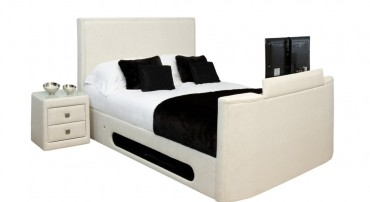 New York TV Bed in Ivory